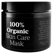 Premium Facial Skin Mud Mask Cleanser By MARKS GOUGER – Organic & Natural Spa Skin Treatment, Anti-Ageing Face Detox Cream, Hydrating, Firming & Cleansing Beauty Therapy, Perfect For Sensitive Skin