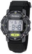 Armitron Sport Unisex 40/8291BLK Black Hook and loop Strap Grey Round Digital Chronograph Watch