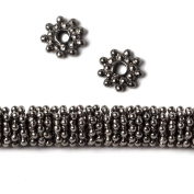 7mm Black Gold Plated Copper Daisy Spacer Beads 2mm ID 8 inch 145 beads