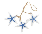 22cm Nautical Wood Blue White Starfish Mobile Wall Hanging Decor Sea