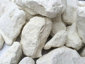 WHITE edible Clay chunks (lump) natural for eating (food), 1 lb