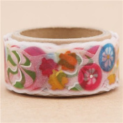 White die-cut cute candy silver metallic deco tape sticky tape by Mind Wave