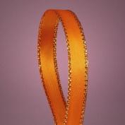 Anrox Supply Co Polyester Satin Ribbon w/ Gold Edge Border 50 Yds