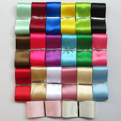 Chenkou Craft 20Yards 3.8cm Single Face Polyester Ribbon 20 Colours Assorted Bulk Lots Mix