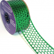ACI PARTY AND SPIRIT ACCESSORIES Honeycomb/Punchinello Ribbon, Green