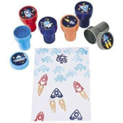 Make-A-Spaceship Stampers, Teacher Resources & Stampers & Stamp Pads, 4 packs of by_avalanche_industries
