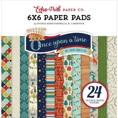 Echo Park Paper Company OUB123023 Once Upon A Time-Prince 6x6 Paper Pad