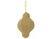 Craft Pedlars CPLAC999 Paper Mache Ornament Bulging with Knob Kraft
