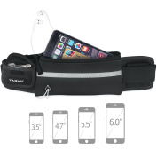 Tagvo Running Waist Pack with Elastic Strap Suitable for All Women Men Anti-bouncing Sweat Proof, Sport Belt with Reflective Patch for Carrying Keys, Cards, ID, Passport, iPhone 6 6s 7 Plus Galaxy