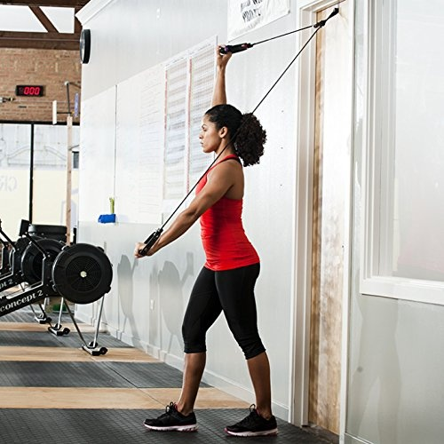 Home gyms over the door upper body resistance pulley system