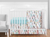 Feather Baby Girls 11 Piece Crib Bedding Set without Bumper