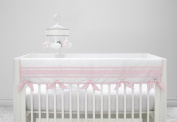 Just Born Crib Rail Guard Cover, Classic Pink