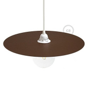 Oversized lamp shade dish known as the Ellepi in Rust painted iron, diameter 40 cm, Made in Italy - White
