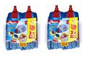 4 x Vileda Supermocio 3 Action Microfibre Mop Head Replacement Refill Blue