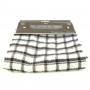 2x Sunhigh Home Collection 100% Cotton Tea Towels Dish Cloths - Dark Brown