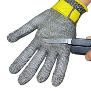 100% Safety Stainless Steel Metal Mesh Butcher Gloves Cut Proof Protect Glove