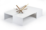 mobilifiver Rachel Coffee Table, Wood, white gloss, 90 x 60 x 21 cm