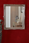 LARGE SILVER ORNATE ANTIQUE DESIGN WALL MIRROR NEW 24INCH X 20INCH 61CM X 50CM