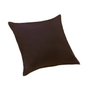 "Chocolate Brown Extra Large 24"" / 60cm Scatter Sofa Cushion 100% Cotton Twill with Zip Cover & Ready Filled with Hollowfibre Pad"
