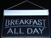 Multi Colour i311-c BREAKFAST ALL DAY OPEN Cafe Bar Neon LED Sign with Remote Control, 20 Colours, 19 Dynamic Modes, Speed & Brightness Adjustable, Demo Mode, Auto Save Function
