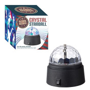 Global Gizmos Battery Operated Crystal Star Ball Disco Light