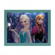 FROZEN DISNEY FILM - LED Photo Elsa and Anna - Battery Operated 23 x 18cm