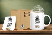 Keep Calm This May Contain Rum Mug And Matching Coaster Set