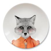 Mustard Ceramic Dinner Plate - Wild Dining Fox