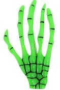 Banned Goth Horror Monster fluorescent green Skeleton Hand Hair Clip