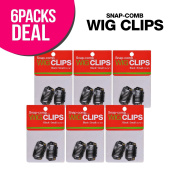 6-Pack! Snap-Comb Wig Clips Small