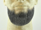 Full Chin Beard DARK GREY - 100% Human Hair - no. 2023 - REALISTIC! Perfect for Theatre and Stage - Reusable!