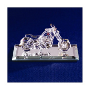 Jewellery Best SellerMotorcycle with Crystal Accents Glass Figurine