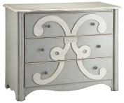Stein World Furniture Chesapeake Chest, Cadet Grey, Cream