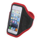 Adjustable Red Running Jogging Sports GYM Armband Case For iPhone 5 5G