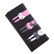 Mikey Store Women Cat Pattern Coin Purse Long Wallet Card Holders Handbag