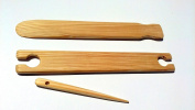 3 Piece 80cm X 1.5 wide weaving stick shuttle and Pick up stick