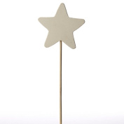 Package of 6 Unfinished Wood Star Wands for Crafting, Creating and Embellishing