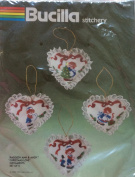 Raggedy Ann & Andy 4 Christmas Ornaments - Bucilla Stitchery Embroidery Kit 82336