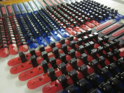 30pc 0.6cm 1cm 1.3cm DR ABS RED BLUE SOCKET RAILS RACKS HOLDER organiser W/ HANDLE