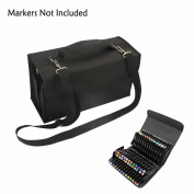 MountArt 80 Slot Marker Pen Case,Marker Holder/Organiser with Carrying Handle Perfect for Permanent Paint Marker, Dry Erase Marker, Repair Marker Pen