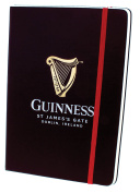 Guinness Livery Notebook With Harp Design And Red Elastic Strap
