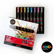 POSCA Colouring - PC-5M Metallic Set of 8 - In Gift Box