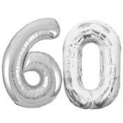 Jumbo Silver Foil Balloons-60