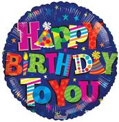 Birthday with Stars 46cm Mylar Balloon Bulk