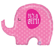 It's A Girl Pink Elephant Baby Shower Party 80cm Foil Balloon