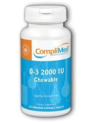 Complimed D-3 Chewable Cinnamon 2000 IU 120 tabs by CompliMed