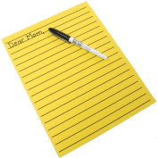 Yellow Bold Line Writing Paper 22cm x 28cm by MAGNIFYING AIDS