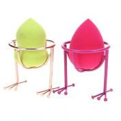 2PC Makeup Sponges Stand,Elevin(TM)Makeup Beauty Stencil Egg Powder Puff Sponge Display Stand Drying Holder Rack