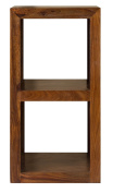 Cube Indian Rosewood Small Display Unit / Solid Sheesham Indian Rosewood Small Bookcase / Modern Living Room Furniture