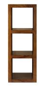 Cube Indian Rosewood Medium Display Unit / Solid Sheesham Indian Rosewood Medium Bookcase / Modern Living Room Furniture